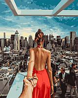 Картина раскраска Следуй за мной Манхеттен (PGX21784) 40 х 50 см Brushme Premium