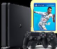 Игровая приставка Sony Playstation 4 Slim 500Gb + FIFA 19 + Dualshock 4