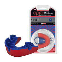 Капа OPRO Silver Red/Blue (art.002189005)