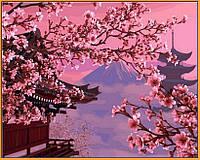 Картина по номерам Японский пейзаж (в раме) (NB595R) 40 х 50 см DIY Babylon Premium (в раме)