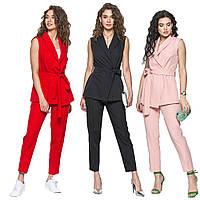 509cfe2abce Женский летний костюм двойка жилет и брюки sh-005 (разные цвета