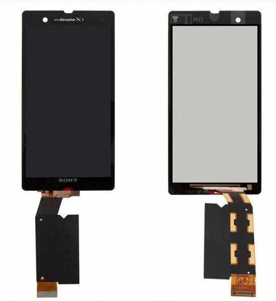 Дисплей (экран) для Sony C6602 Xperia Z L36h с сенсором (тачскрином) черный Оригинал