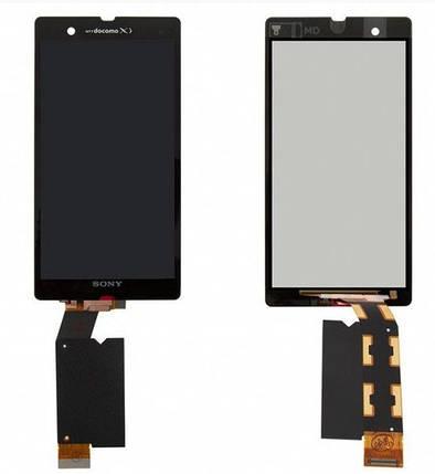 Дисплей (экран) для Sony C6602 Xperia Z L36h с сенсором (тачскрином) черный Оригинал, фото 2