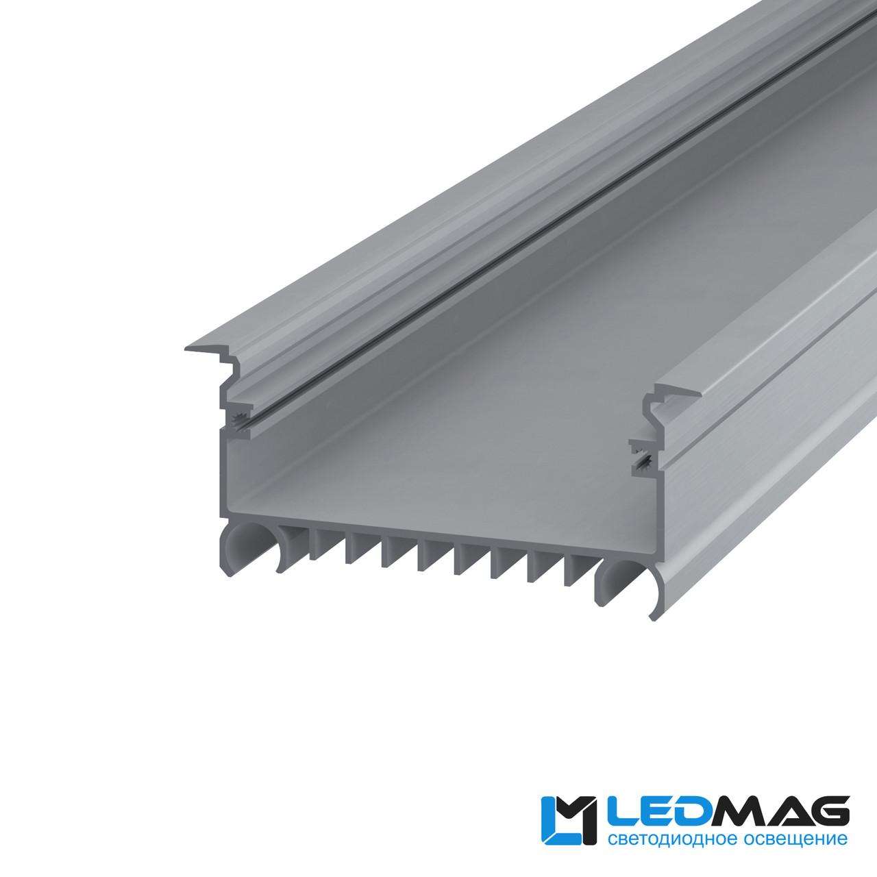 Профиль для светодиодной ленты врезной LSV-70 алюминиевый