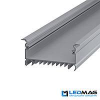 Профиль для светодиодной ленты врезной LSV-70 алюминиевый, фото 1