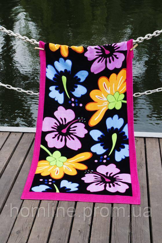 Велюровое полотенце Lotus пляжное Grace 75*150