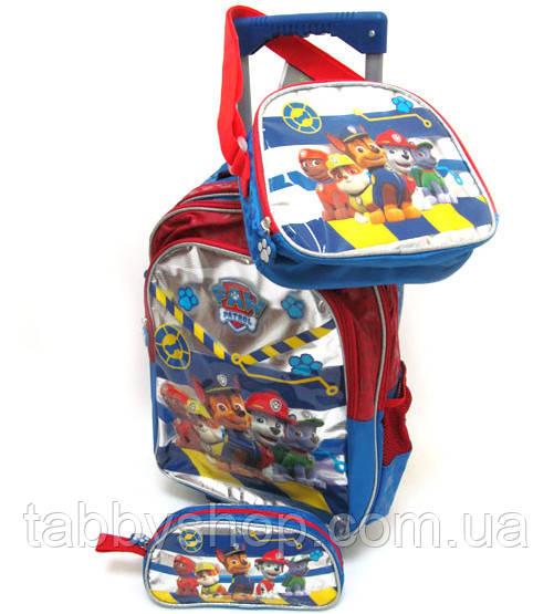 """Валіза-рюкзак дитячий """"Щенячий патруль"""" з наповненням (3 предмета)"""