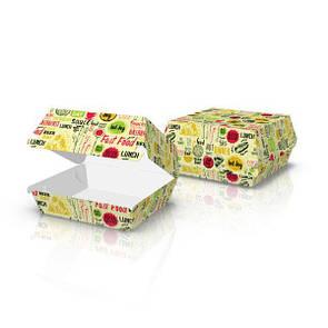 """Упаковка для бургеров """"Миди"""" светлая"""