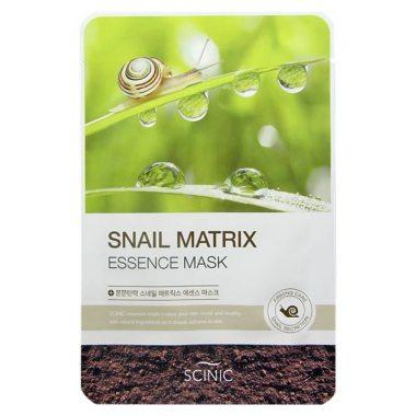 Тканевая маскас муцином улитки Scinic Snail Matrix Essence mask