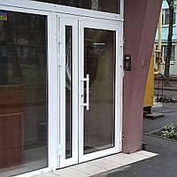 Входные офисные двери из тёплой алюминиевой профильной системы С67 броварского завода «Талисман»