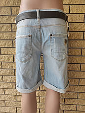 Бриджи женские джинсовые стрейчевые с высокой посадкой большого размера LADY FORGINA, Турция, фото 2