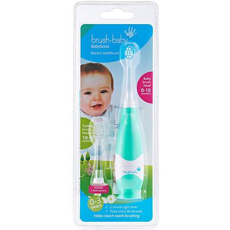 BabySonic Brush-baby Ультразвукова LED щітка дітям 0-18 місяців, фото 2