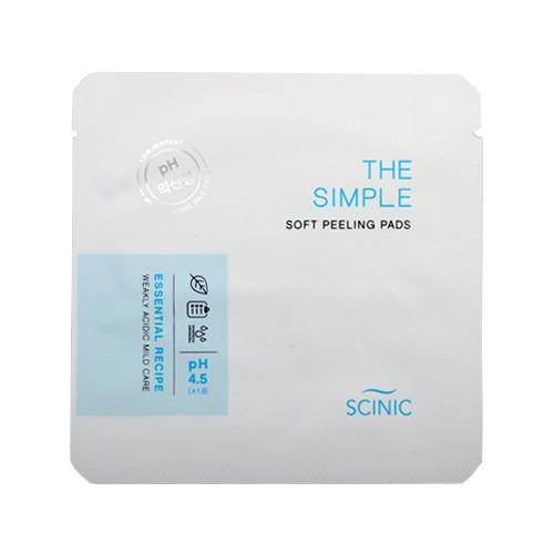 Слабокислотные пилинг-диски Scinic The Simple Soft Peeling Pads