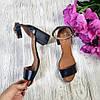 Босоножки на небольшом каблуке из натурально кожи черного цвета ELEGANTE BLACK LEATHER, фото 3