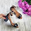Босоножки на небольшом каблуке из натурально кожи черного цвета ELEGANTE BLACK LEATHER, фото 2
