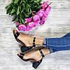 Босоножки на небольшом каблуке из натурально кожи черного цвета ELEGANTE BLACK LEATHER, фото 4
