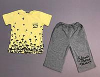 Костюм желтая футболка и шорты на мальчика 3 года, 4 года, 5 лет, 6 лет