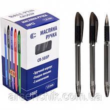 Ручка масляная СR503 Р «С» черная