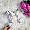 Босоножки на небольшом каблуке из натуральной кожи белого цвета ELEGANTE WHITE LEATHER, фото 3