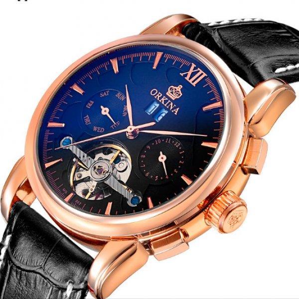 Orkina Мужские часы Orkina DeLuxe Black