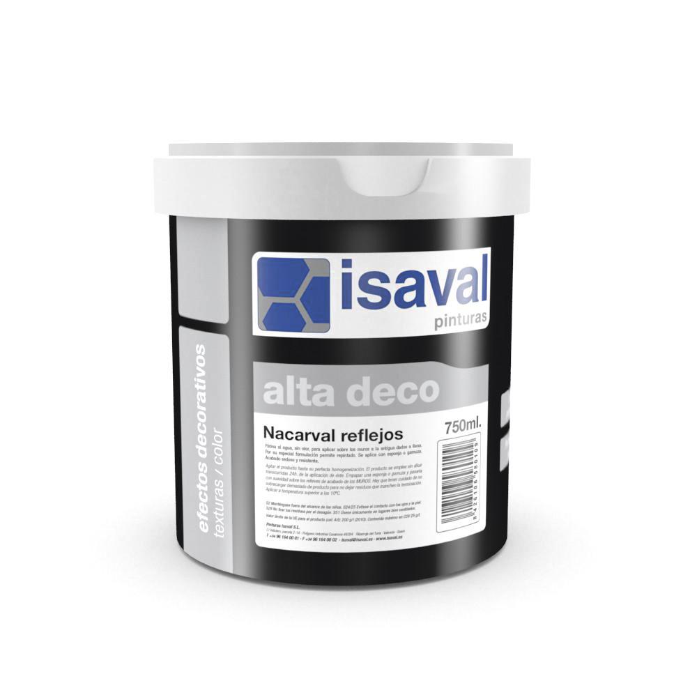 Декоративний лак з блискітками ISAVAL Nacarval Кобре (блискітки мідні та золоті) 0.75 л