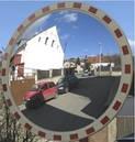 Сферические зеркала дорожные со световозвращающей окантовкой для безопасности дорожного движения