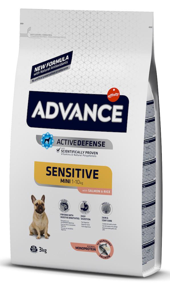 Сухий корм ADVANCE Mini Sensitive 3 кг для дорослих собак маленьких порід з чутливим травленням