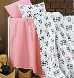 """Ткань шириной 240 см """"Панды в розовых юбках и с шариками-сердечками"""" на белом №2064, фото 2"""