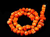 Заготівля з корала шматочки жовтогарячого, фото 1