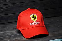 Кепка Бейсболка Ferrari летняя шестиклинка стильная красная