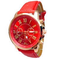 Geneva Женские часы Geneva Uno Red, фото 1