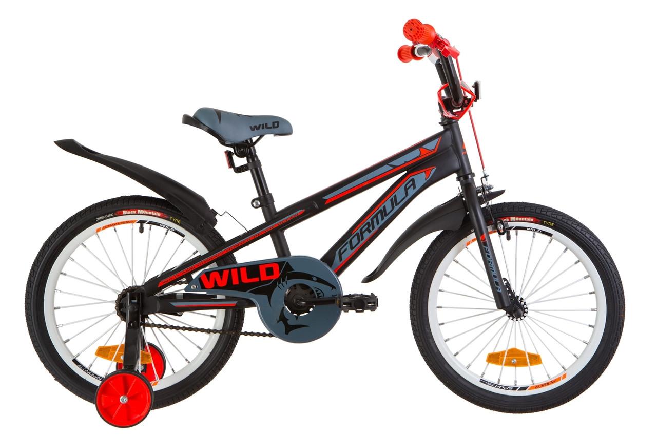 """Детский велосипед 18"""" Formula WILD 2019 (черно-красный (м))"""