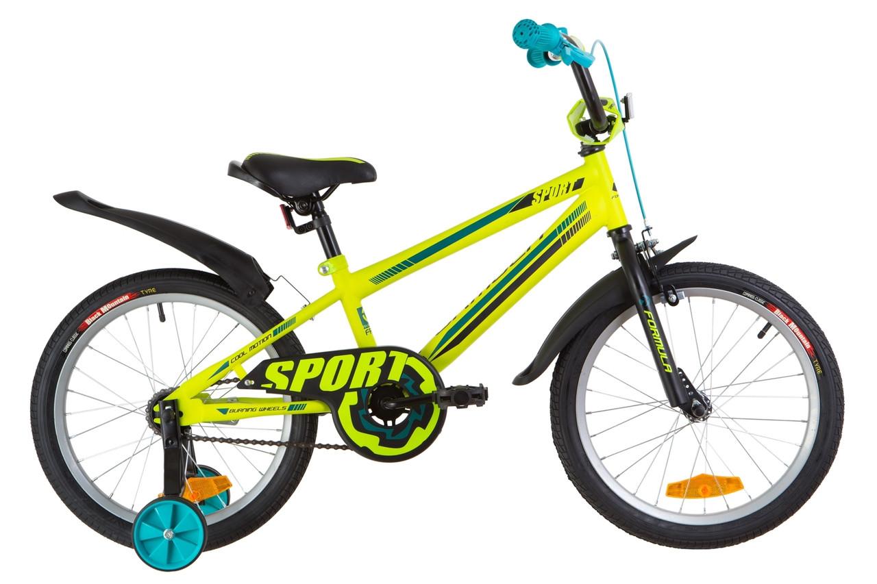 """Детский велосипед 18"""" Formula SPORT 2019 (салатно-бирюзовый (м))"""