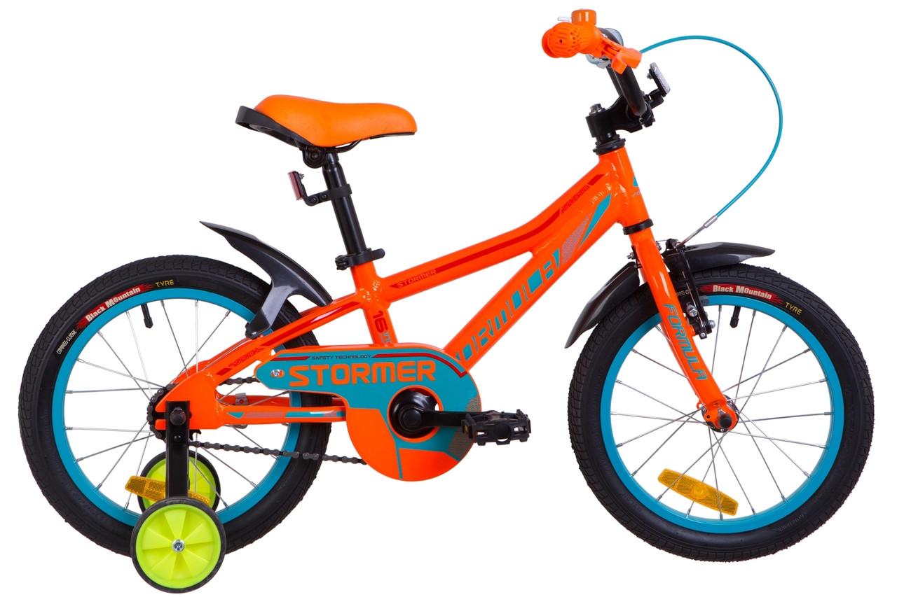 """Детский велосипед 16"""" Formula STORMER 2019 (оранжевый )"""
