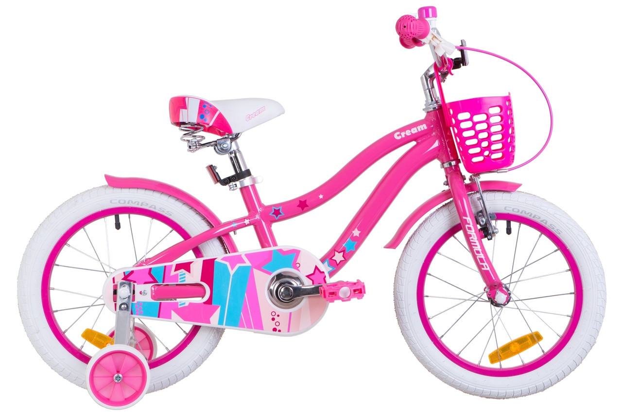 """Детский велосипед 16"""" Formula CREAM 2019 (розовый с голубым)"""