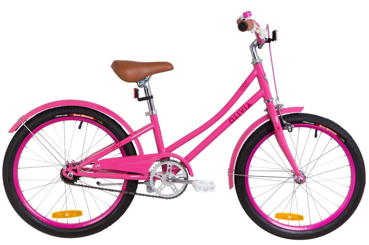 """Детский велосипед 20"""" Dorozhnik OLIVIA 2019 (розовый)"""