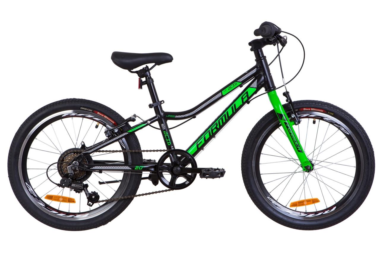 """Детский велосипед 20"""" Formula ACID 1.0 rigid (черно-зеленый (м))"""