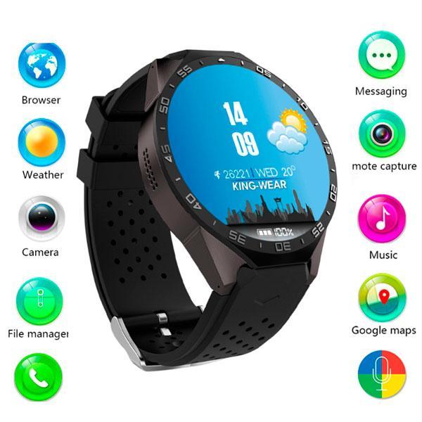 UWatch Умные часы Smart KW88 WI-FI Turbo Black