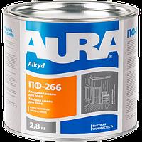 Эмаль AURA ПФ-266 для пола (красно-коричневая), 2,8 кг