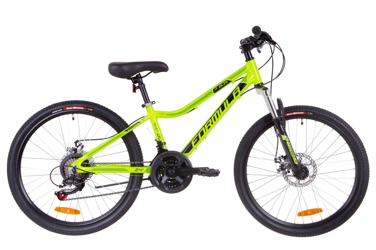 """Горный велосипед 24"""" Formula ACID 1.0 DD 2019 (салатно-черный с бирюзовым)"""