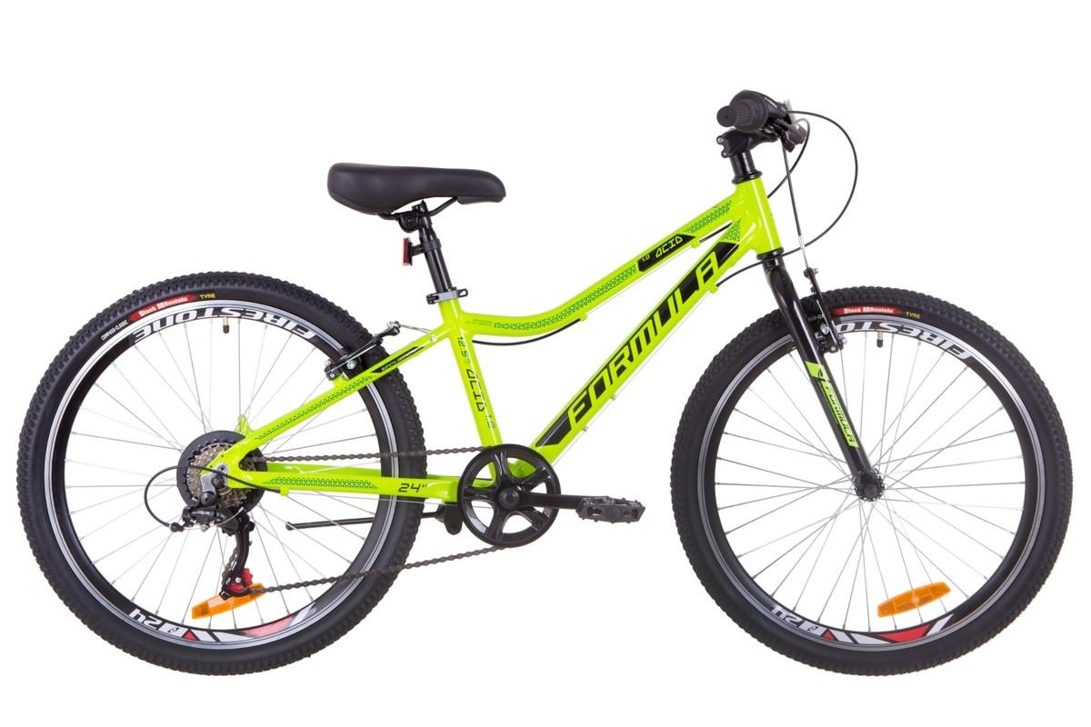 """Горный велосипед 24"""" Formula ACID 1.0 rigid 2019 (салатно-черный с бирюзовым)"""