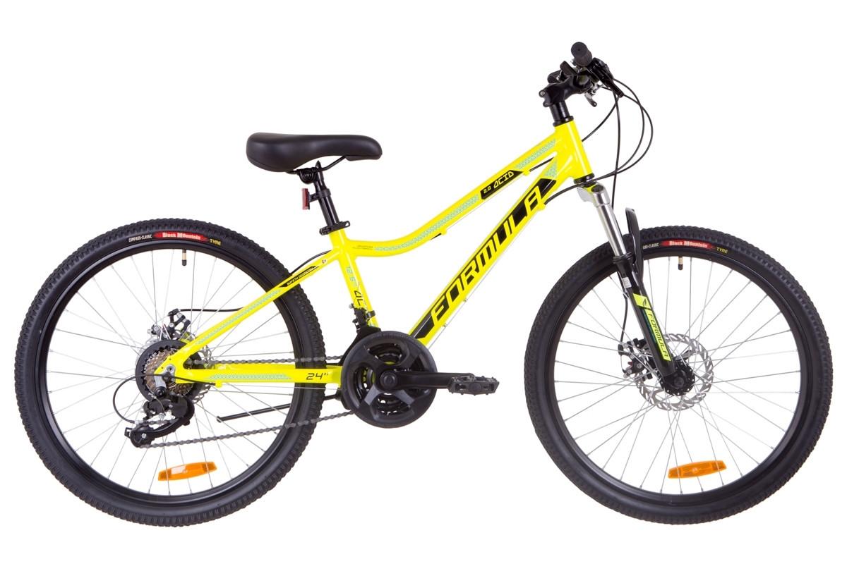 """Горный велосипед 24"""" Formula ACID 2.0 DD 2019 (желто-черный с синим)"""