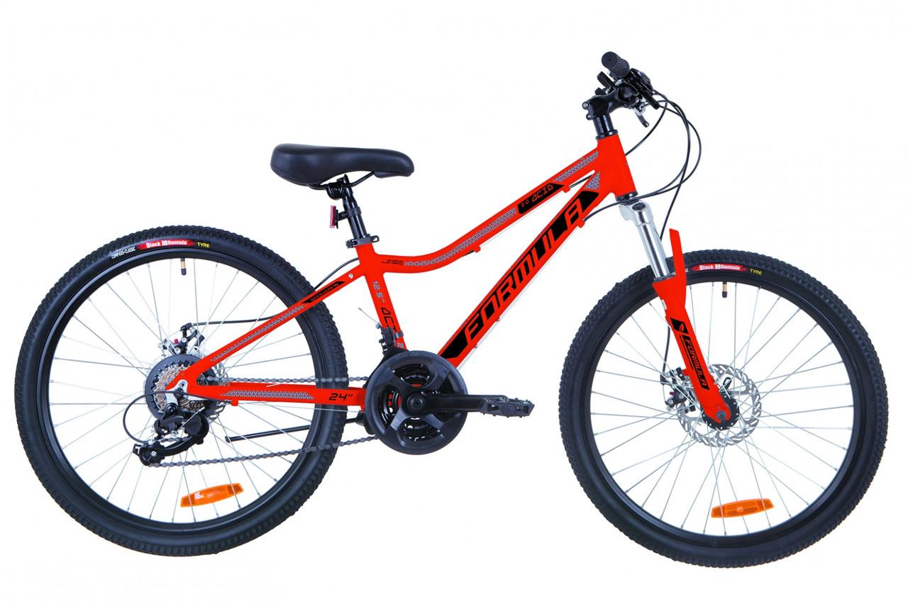 """Горный велосипед 24"""" Formula ACID 2.0 DD 2019 (красно-черный с синим)"""