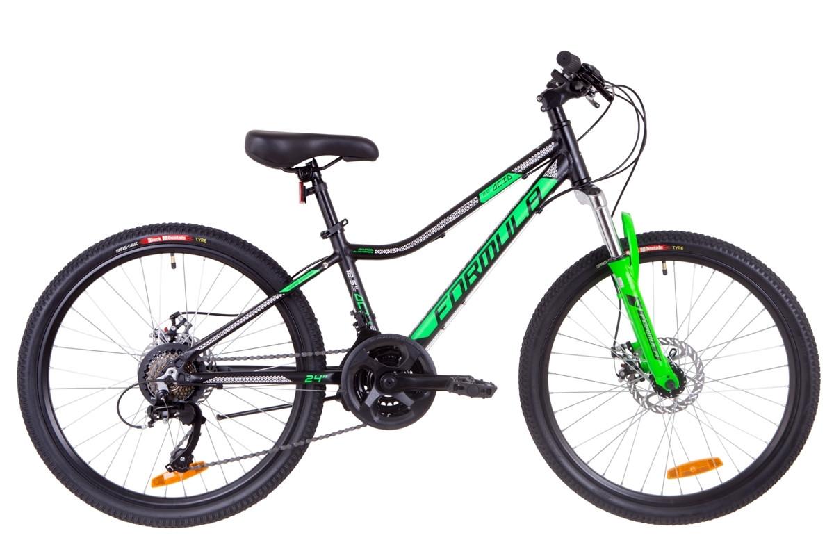 """Горный велосипед 24"""" Formula ACID 2.0 DD 2019 (черно-зеленый (м))"""
