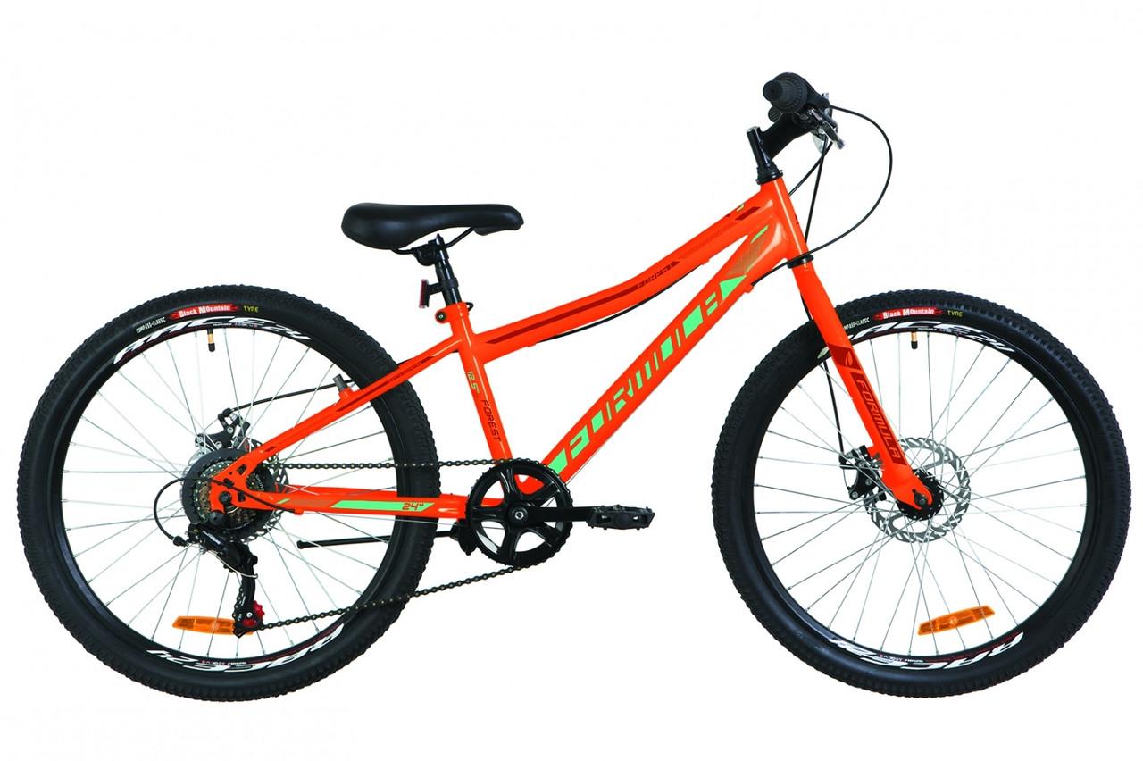 """Горный велосипед 24"""" Formula FOREST RIGID DD 2019 (оранжево-бирюзовый)"""
