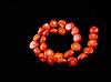 Заготовка  из  коралла оранжевого  шестиугольник 14.5 мм