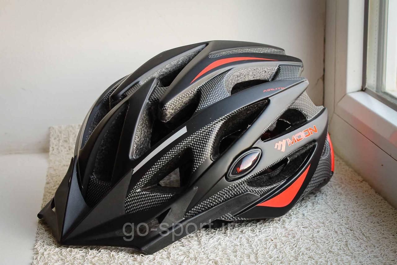 Велосипедный шлем Moon красный матовый