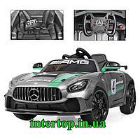Детский электромобиль на аккумуляторе Mercedes серый. Дитяча електромашина Мерседес M 4050EBLRS-11
