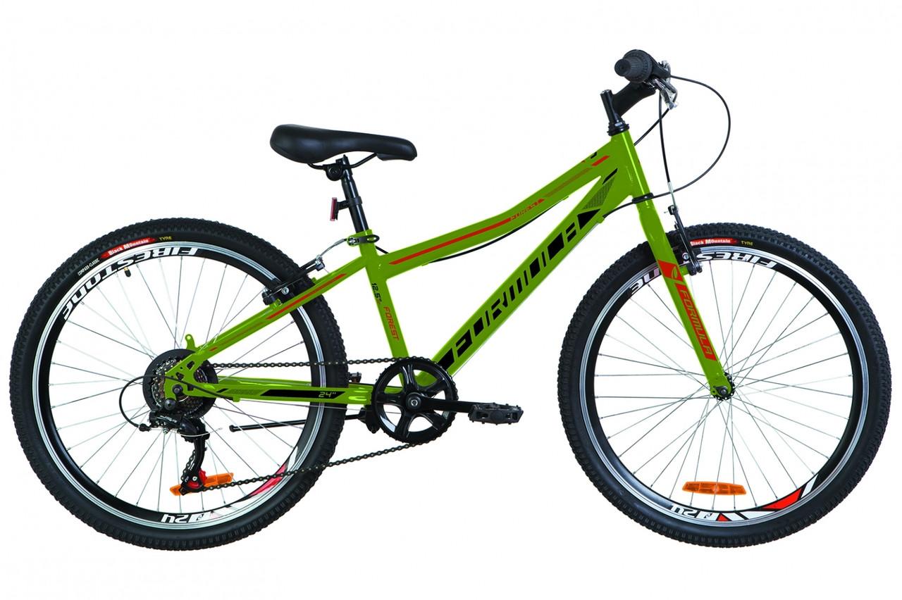 """Горный велосипед Горный велосипед 24"""" Formula FOREST RIGID 2019 (зеленый с оранжевым (м))"""