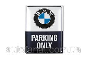 Оригинальная металлическая табличка BMW Parking Only, Classic Metal Sign (80282463140)